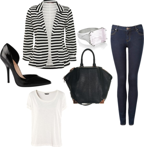 Friday outfit striped blazer