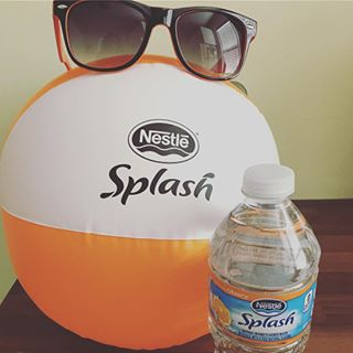 Loving my @influenster swag & #nestlesplashoffun goodies! Cannot wait to try this Mandarin Orange flavor: 🍊💦 #lifestyleblogger #bloggers
