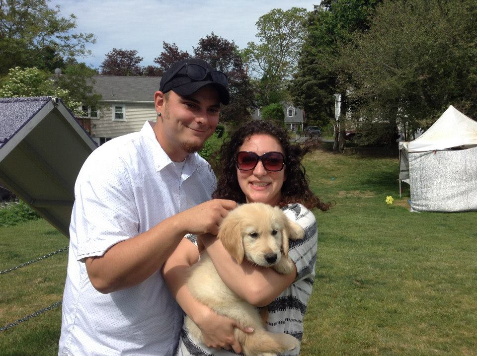 And our first family photo before we brought him home!